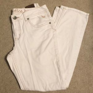 Straight Leg White Denim Jeans Size 12 1/2